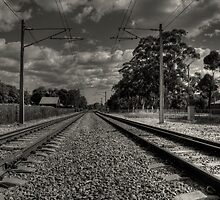 Guildford Railroad Tracks by HG. QualityPhotography