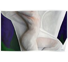 Bodyshot 1 Model painted into white lilly Poster