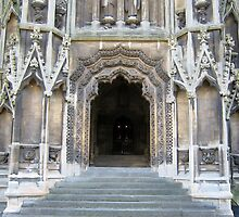 Entrance to Mary Redcliffe Church. by Heather Goodwin