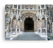 Entrance to Mary Redcliffe Church. Canvas Print