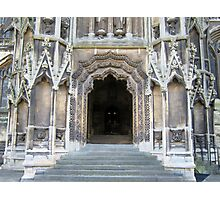 Entrance to Mary Redcliffe Church. Photographic Print
