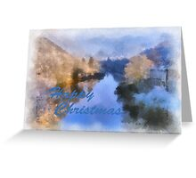 Gorge River Ironbridge Spring Snow Greeting Card