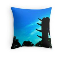 Red Robot in the Shade Throw Pillow