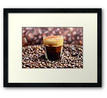 Long Espresso Cappuccino Framed Print