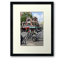 Cyclos (bicycle rickshaws), Ho Chi Minh City, Vietnam Framed Print
