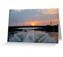 Sunrise over the Saigon River, Ho Chi Minh City, Vietnam Greeting Card