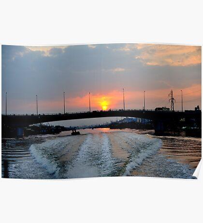Sunrise over the Saigon River, Ho Chi Minh City, Vietnam Poster