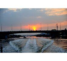 Sunrise over the Saigon River, Ho Chi Minh City, Vietnam Photographic Print