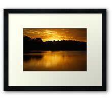 Golden Lake Kimberley Framed Print