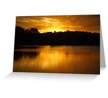 Golden Lake Kimberley Greeting Card