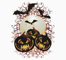 Black Pumpkins Halloween Night Kids Clothes