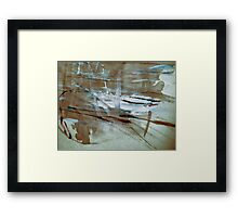 reflections on pond ..... a view Framed Print