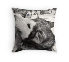 Look into the Eyes Throw Pillow