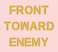 FRONT TOWARD ENEMY One Piece - Short Sleeve