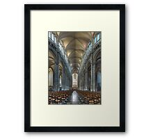 Nave, Amiens Cathedral, Somme, France Framed Print