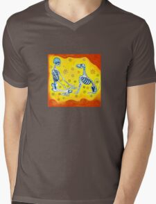 There is no death.  Only different realms. Mens V-Neck T-Shirt