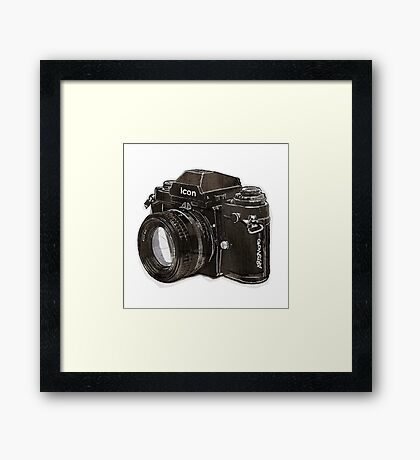 Analog 35mm Nikon F3 single reflex camera Framed Print