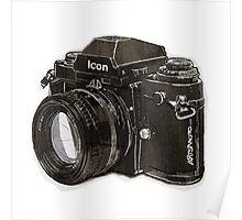 Analog 35mm Nikon F3 single reflex camera Poster