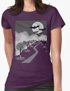 Happy Haunting Womens Fitted T-Shirt