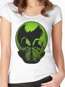 Big Green Mekon Head the second Women's Fitted Scoop T-Shirt