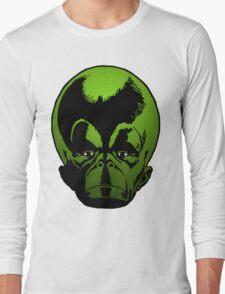 Big Green Mekon Head the second Long Sleeve T-Shirt
