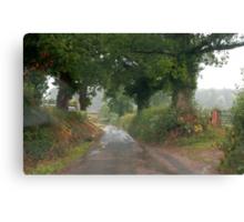 Rainy day through a Windscreen 1, Lashbrook Canvas Print