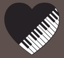 Piano Heart Kids Clothes