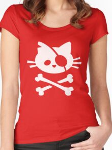 Pirate Cat Women's Fitted Scoop T-Shirt