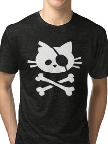 Pirate Cat Tri-blend T-Shirt