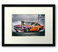 FRYZEM Ultimate Burnout Challenge Skid Framed Print