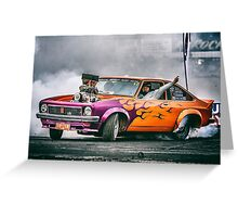 FRYZEM Ultimate Burnout Challenge Skid Greeting Card