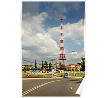 Eiffel Tower replica radio mast, Da Lat (Dalat), Vietnam Poster
