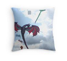 DRAGON KITE Throw Pillow