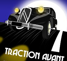 Citroen Traction Avant Card by Autographics