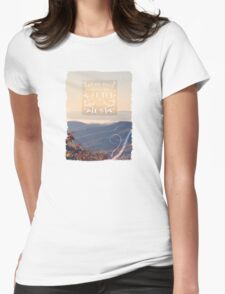 Not All Those Who Wander Are Lost - quote Womens Fitted T-Shirt