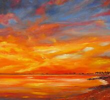 Hythe bay on fire ! by Beatrice Cloake