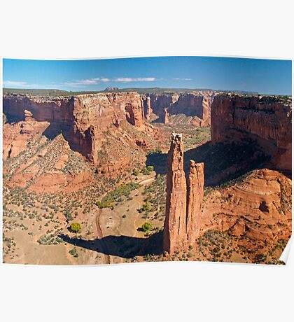 Spider Rock at Canyon De Chelley Poster