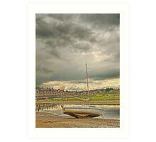 Storm clouds over Blakeney Art Print