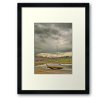 Storm clouds over Blakeney Framed Print
