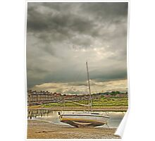 Storm clouds over Blakeney Poster