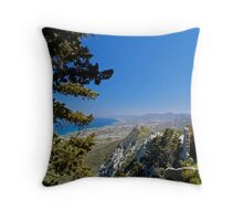 View from St Hilarion Castle  Throw Pillow
