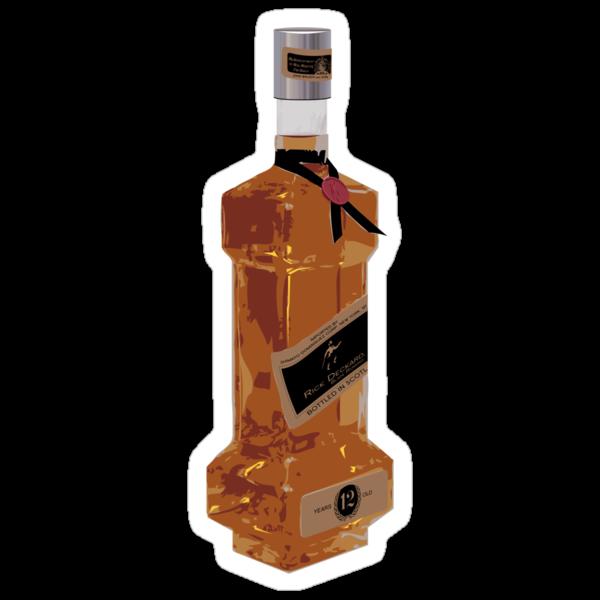 Rick Deckard Blade Running Bottle Sticker by synaptyx