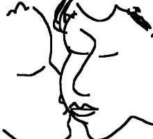 the kiss -(120611a)- digital artwork/ms paint    by paulramnora