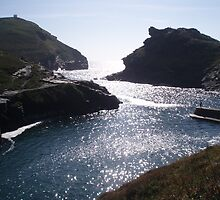 High Tide At Boscastle by Neill Parker