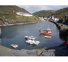 HighTide At Boscastle Harbour Photographic Print