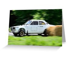 Ford Escort MK1 Safari Rally Car Greeting Card