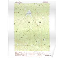 USGS Topo Map Oregon Willow Lake 282108 1988 24000 Poster
