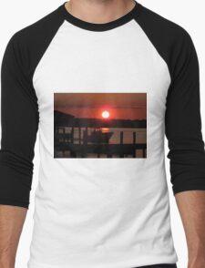 Boating At Sunset Men's Baseball ¾ T-Shirt