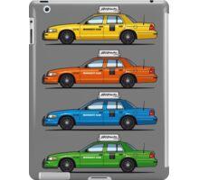 4 Color Crown Vic Cabs iPad Case/Skin