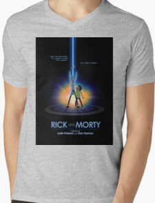 Rick and Morty in Dimension Tron T-Shirt